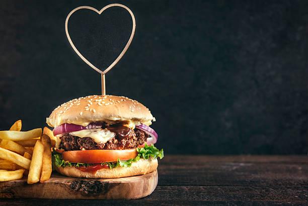 Juicy beef burger stock photo
