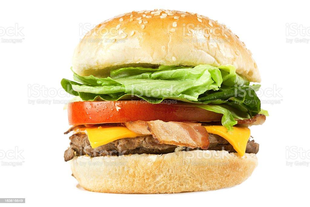 Juicy Cheese and Bacon Burger stock photo
