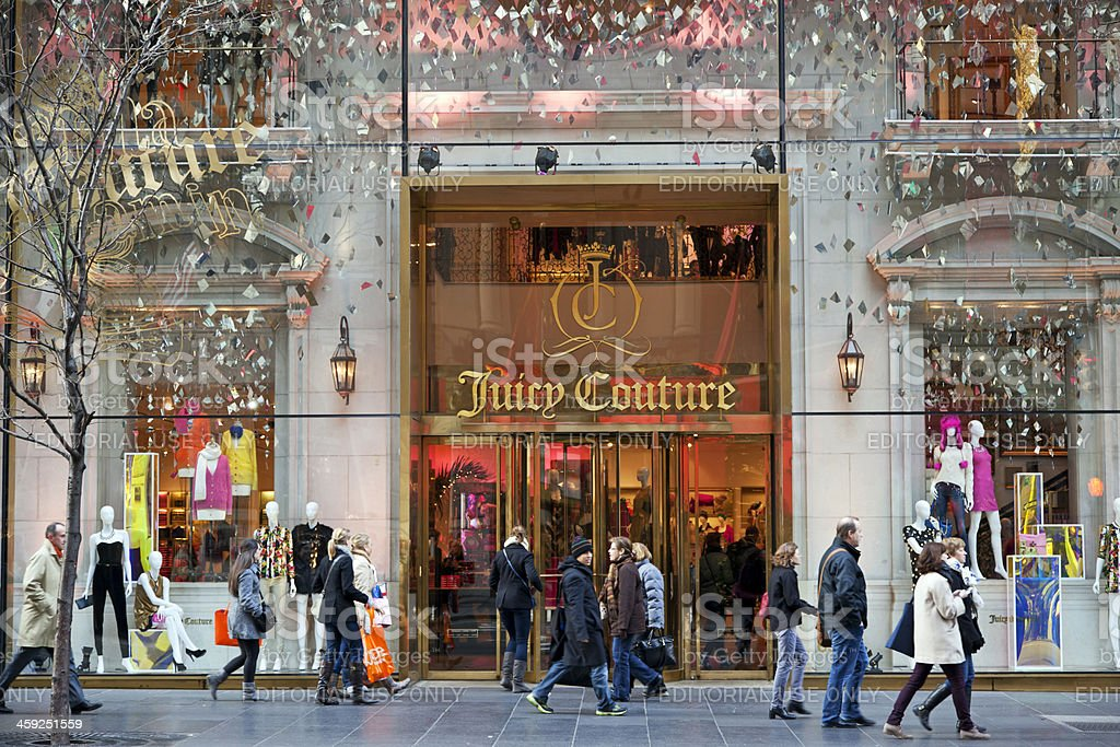 Juicy Couture store NYC # 1 XXXL royalty-free stock photo