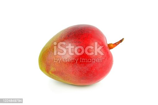 Juicy dessert mango isolated on white background