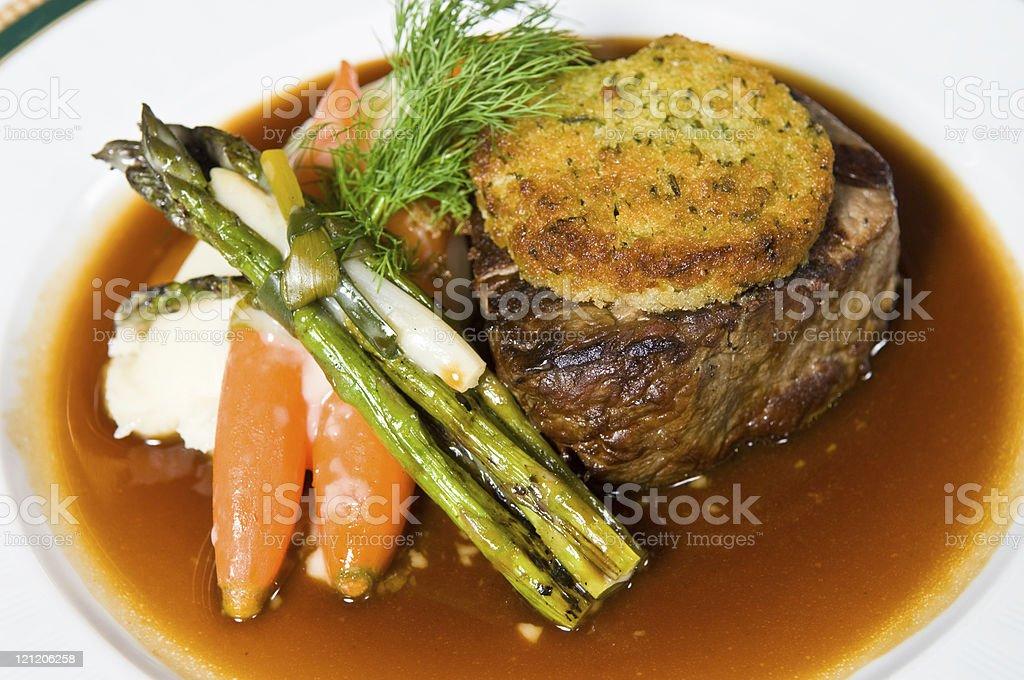 juicy fancy filet mignon stock photo