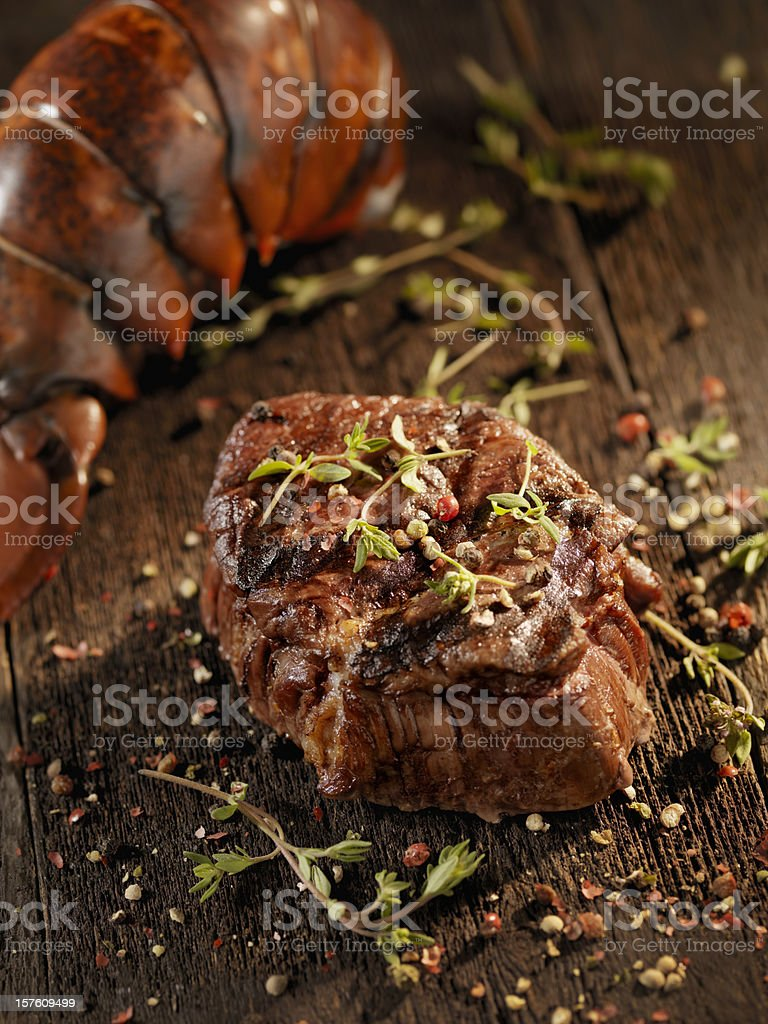 Juicy Fillet Steak with Lobster stock photo