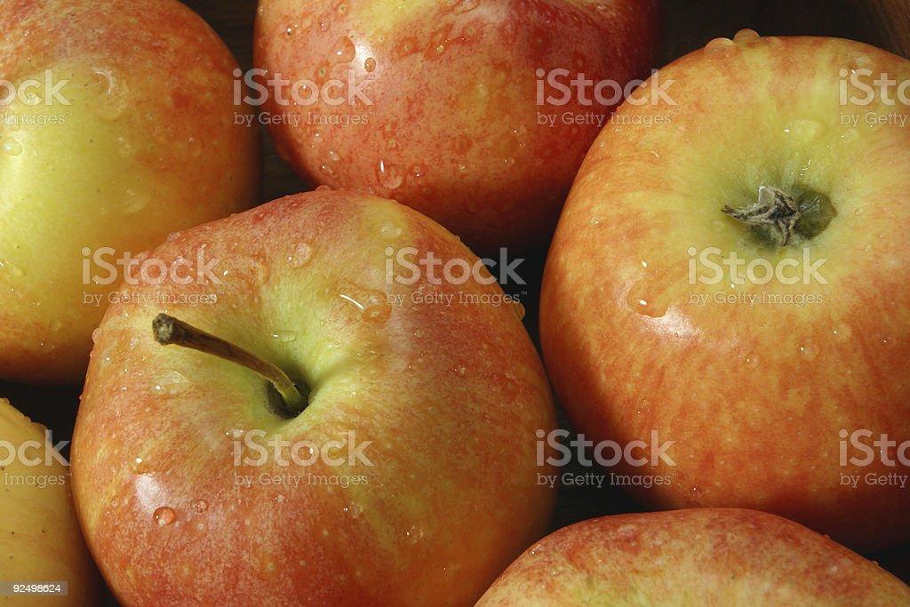 juicy fresh apples royalty-free stock photo