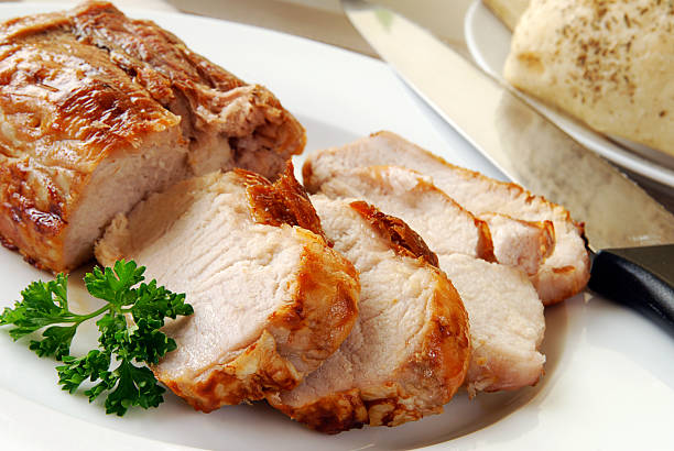 juicy hot pork loin - loin bildbanksfoton och bilder