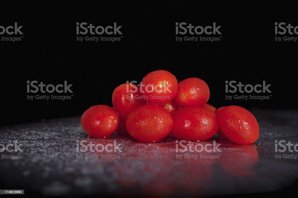 Juicy Isolated Tomatoes royalty-free stock photo