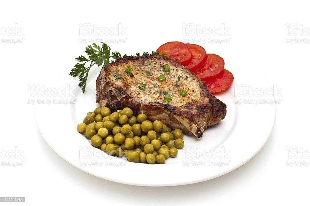 Juicy loin cut steak royalty-free stock photo