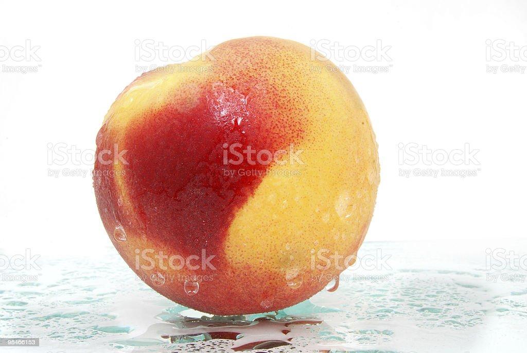 juicy peach royalty-free stock photo