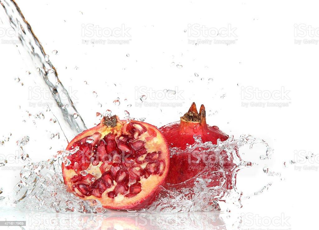 juicy pomegranate royalty-free stock photo