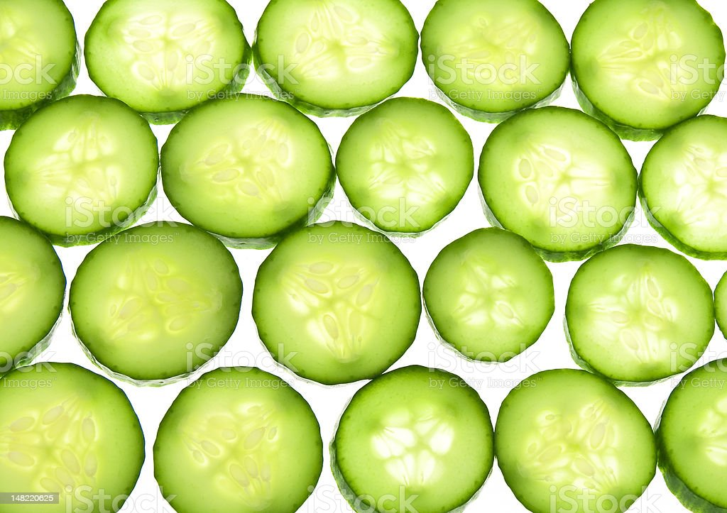 Juicy rings of a cucumber royalty-free stock photo