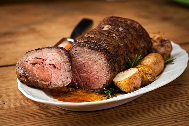 carne de res asada - rosbif fotografías e imágenes de stock