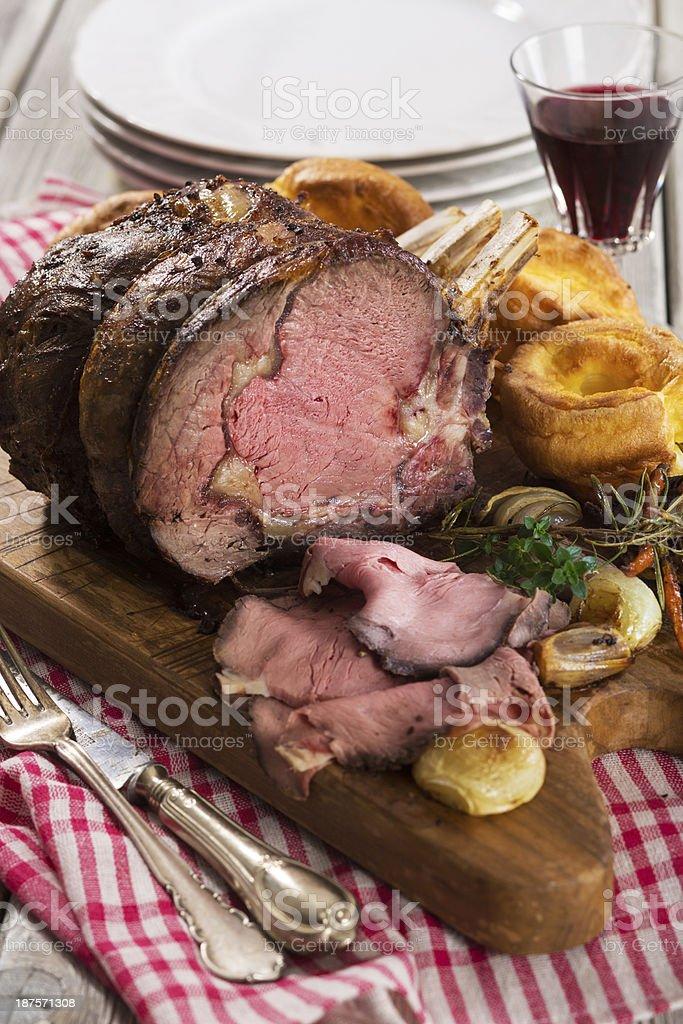 Juicy Roast beef royalty-free stock photo