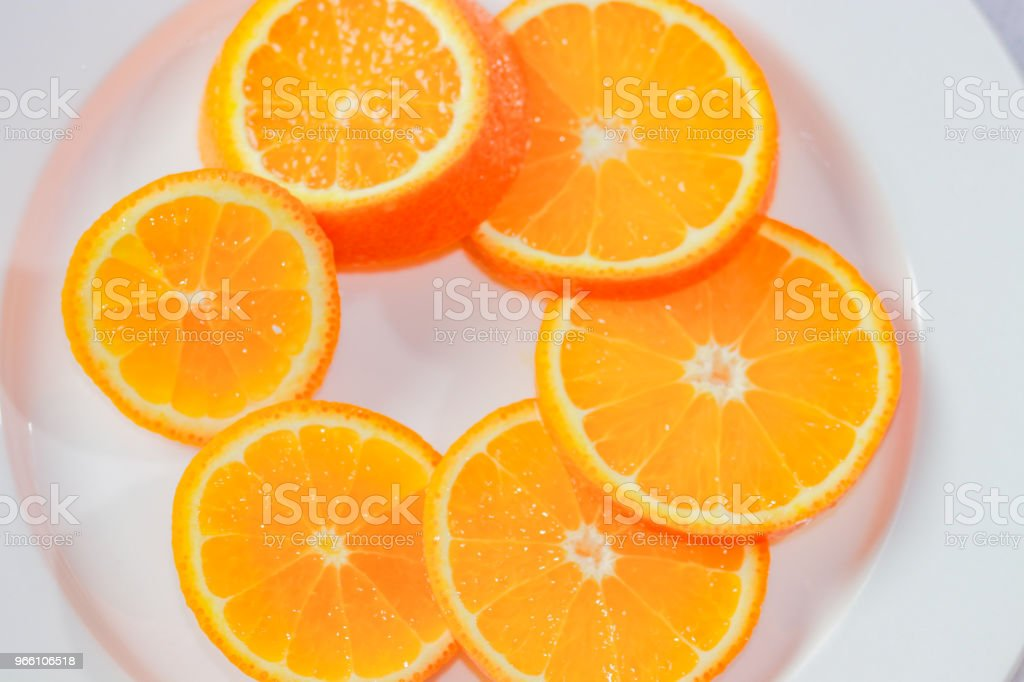 Juicy slices of oranges - Royalty-free Antioxidant Stock Photo