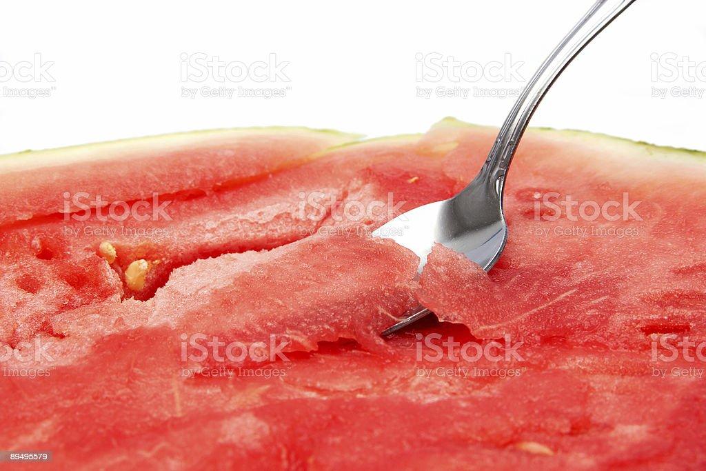 Succosa cucchiaino di cibo foto stock royalty-free
