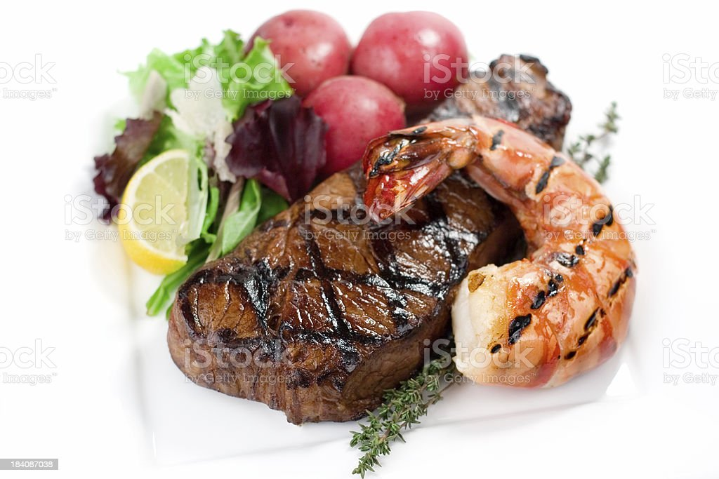 Juicy Steak Dinner royalty-free stock photo