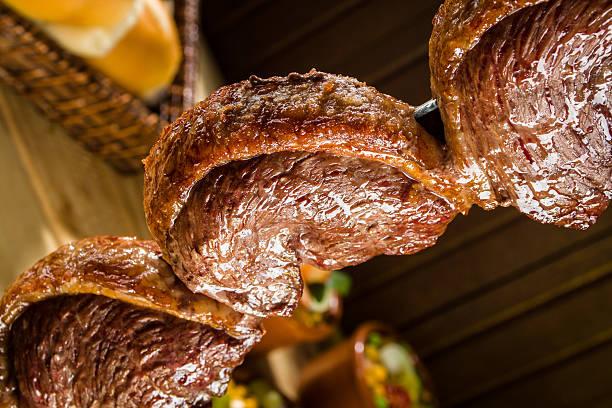 picanha, tradicional churrasco brasileiro - churrasco - fotografias e filmes do acervo
