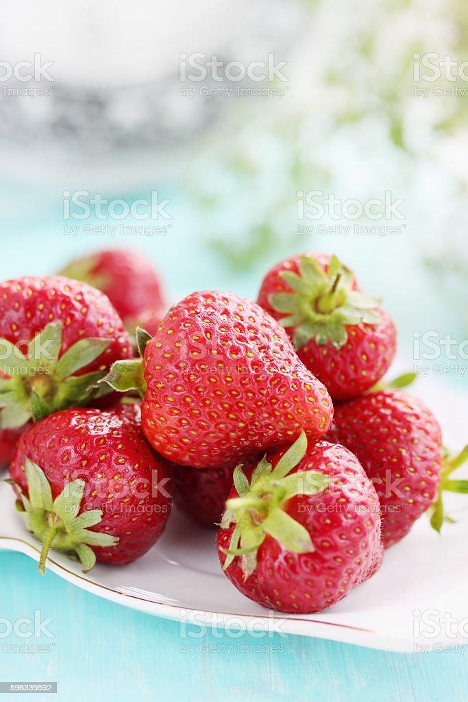 Saftige Erdbeeren Lizenzfreies stock-foto