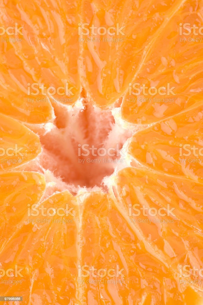 Juicy structure of an orange royalty free stockfoto
