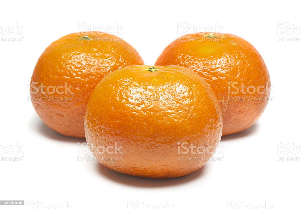 Juicy tangerines, isolated on white background stock photo