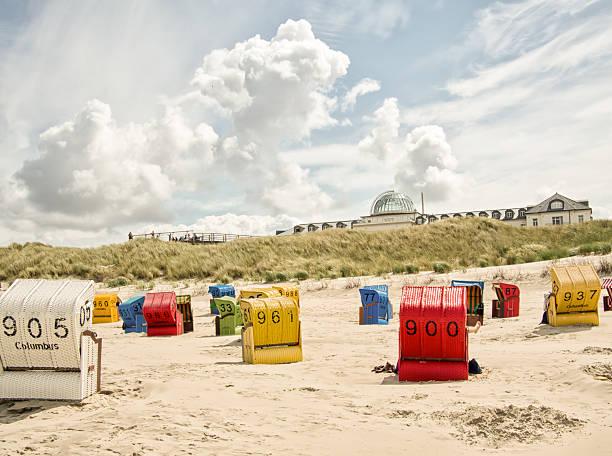 juist, deutschland. - nordsee urlaub hotel stock-fotos und bilder