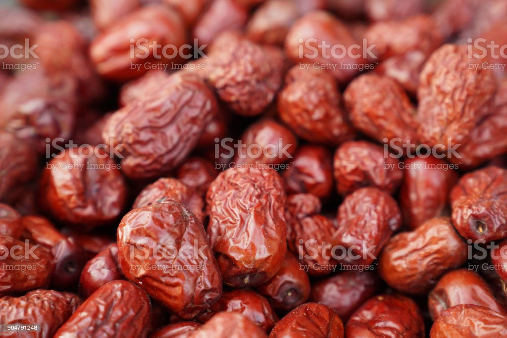 Jujube dates in an oriental bazaar royalty-free stock photo