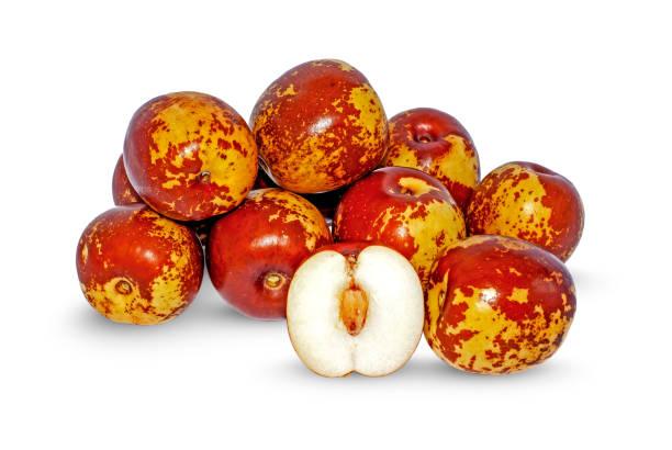Jujube fruits isolated on white Jujube fruits isolated on white background jujube candy stock pictures, royalty-free photos & images