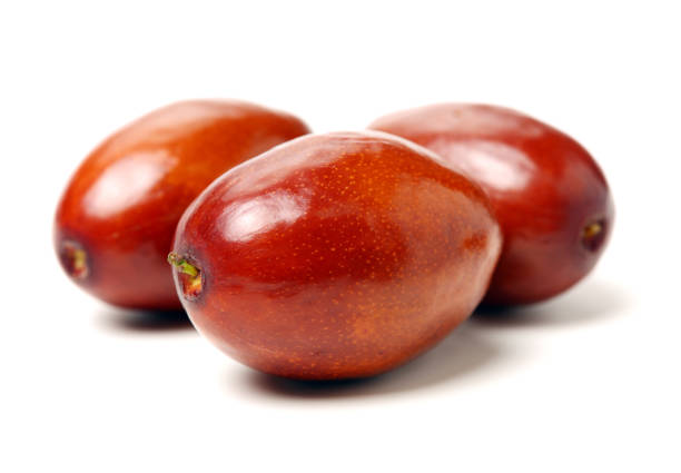 jujube or chinese date jujube or chinese date on white background jujube candy stock pictures, royalty-free photos & images