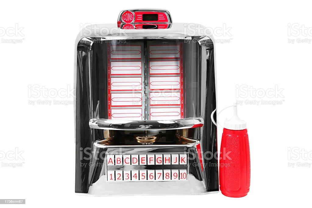Jukebox and food royalty-free stock photo