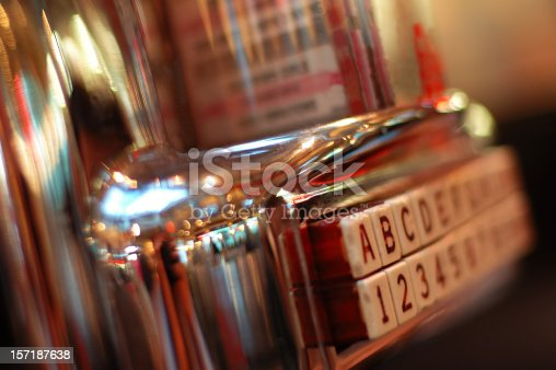 istock Jukebox on a blurred picture, vintage style 157187638