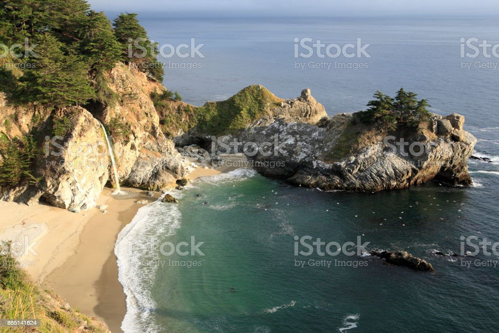 Julia Pfeiffer Burns State Park, near CA state route 1 stock photo