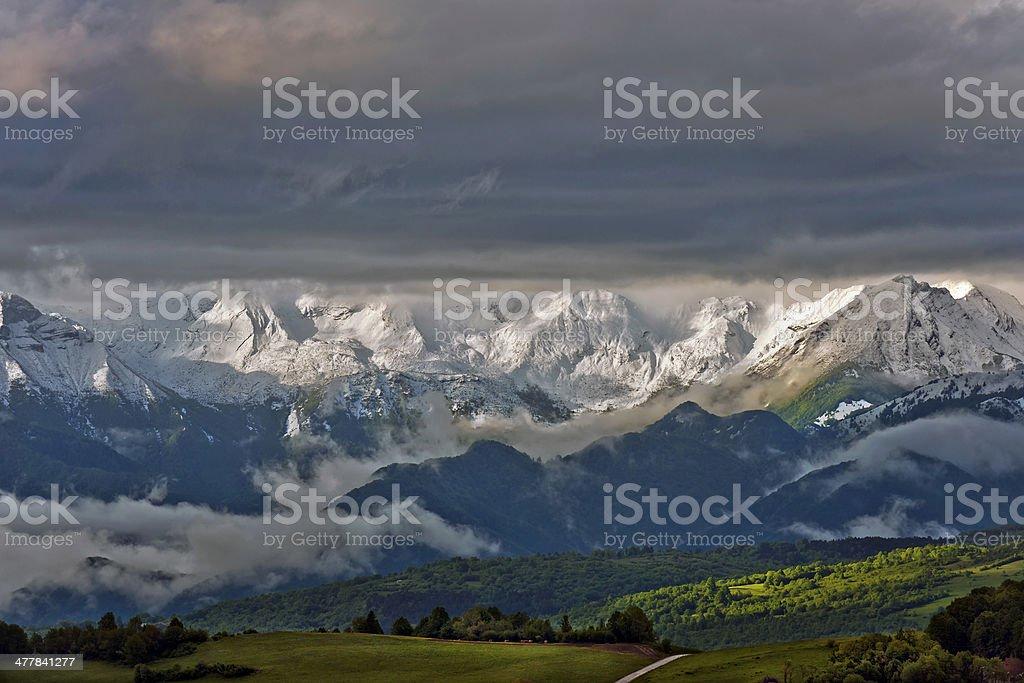 Julian Alps from Banjsice in Slovenia Europe royalty-free stock photo