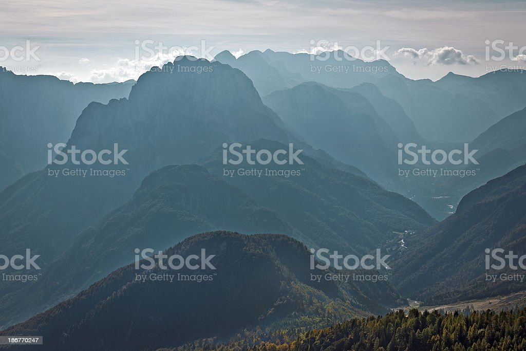 Julian Alps Silhuette Europe royalty-free stock photo