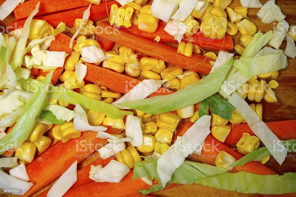 julienne carrots and vegetables royalty-free stock photo