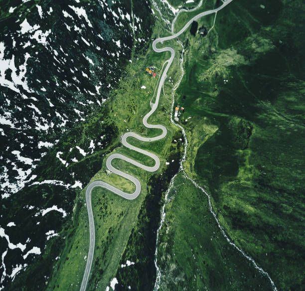 Julier Passstrasse in der Schweiz – Foto