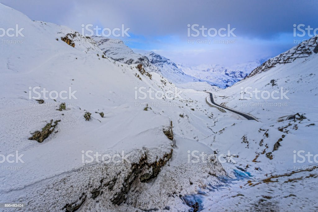 Julier Pass Schweiz stock photo