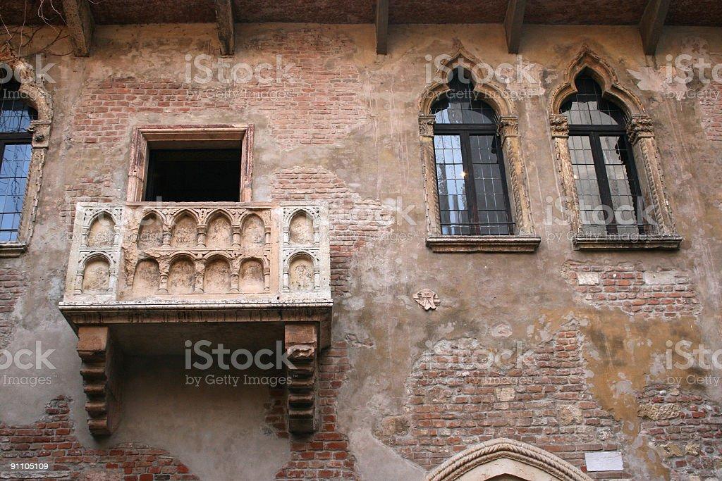 Juliet balcony stock photo