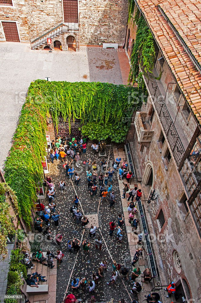 Juliet House in Verona, Italy stock photo
