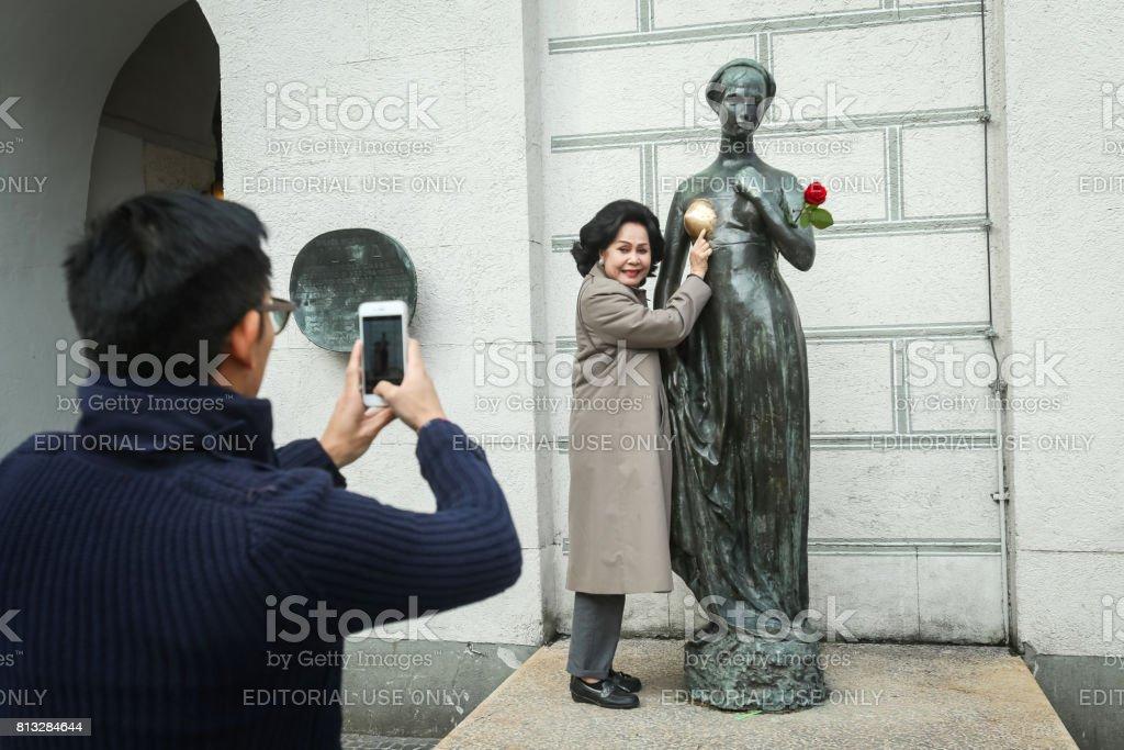 Juliet Statue in Munich stock photo