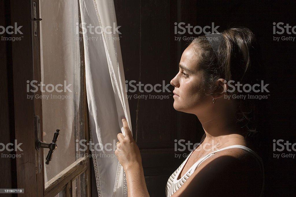 Juliet waiting for Romeo stock photo