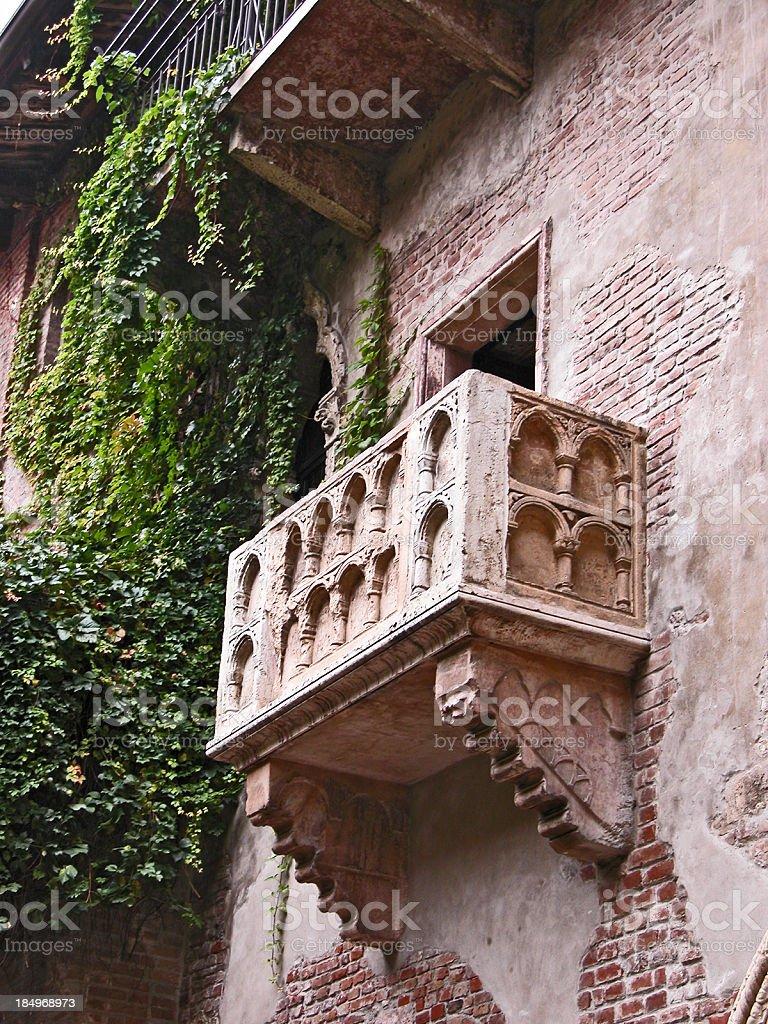 Juliet's balcony, Casa Di Giulietta, Verona, Italy stock photo