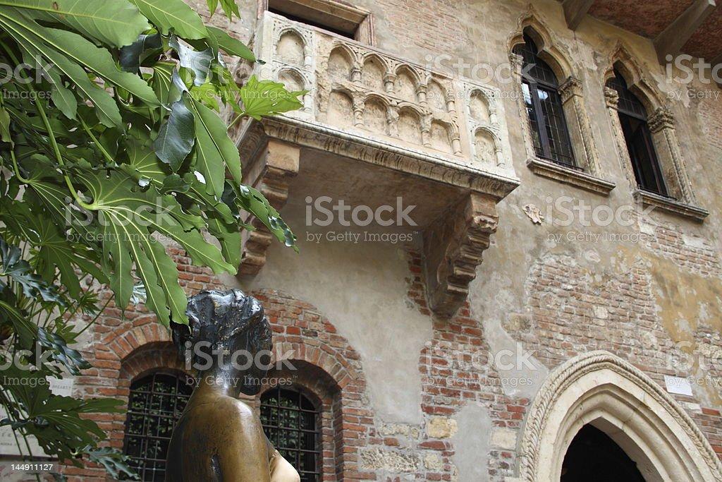 Juliet's balcony (Verona, Italy) royalty-free stock photo