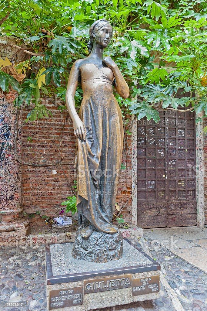Juliet's Statue, Verona stock photo