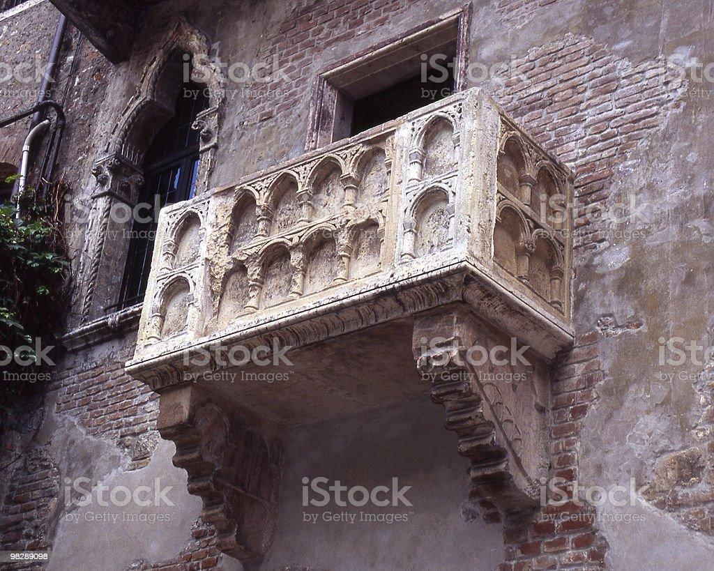 Juliettes balcony in Verona. Italy royalty-free stock photo
