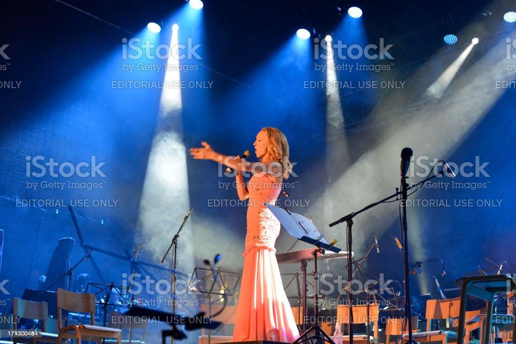 Julija Kramar Singing in Nova Gorica Slovenia royalty-free stock photo