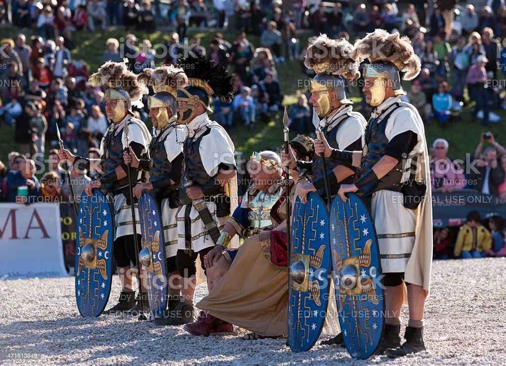 Julius Caesar and his Praetorians stock photo