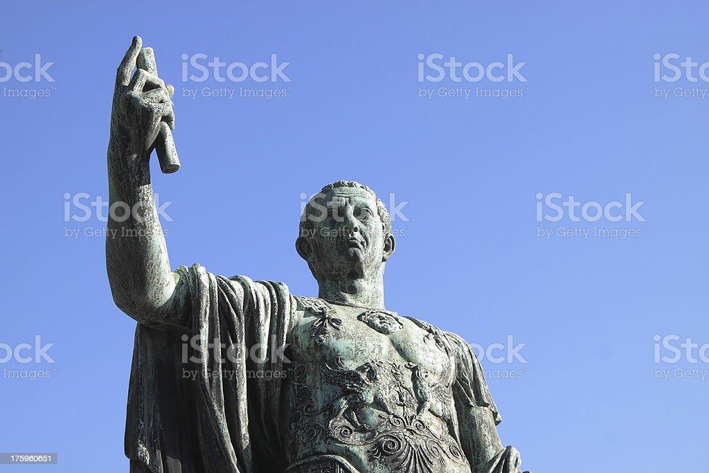 Julius Caesar (Augustus) - Copyspace royalty-free stock photo