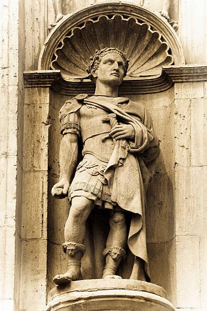 Julius Caesar Old statue of Julius Caesar greco roman style stock pictures, royalty-free photos & images