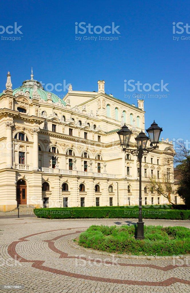 Julius Slovak Theatre in Krakow stock photo