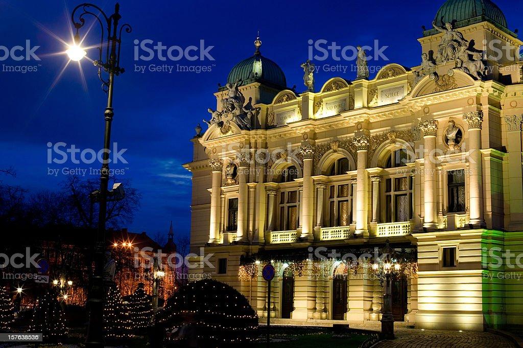 Juliusz Słowacki Theatre stock photo