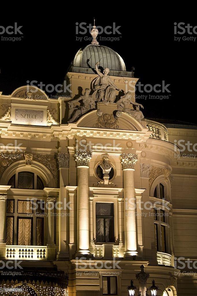 Juliusz Slowacki Theater detail stock photo