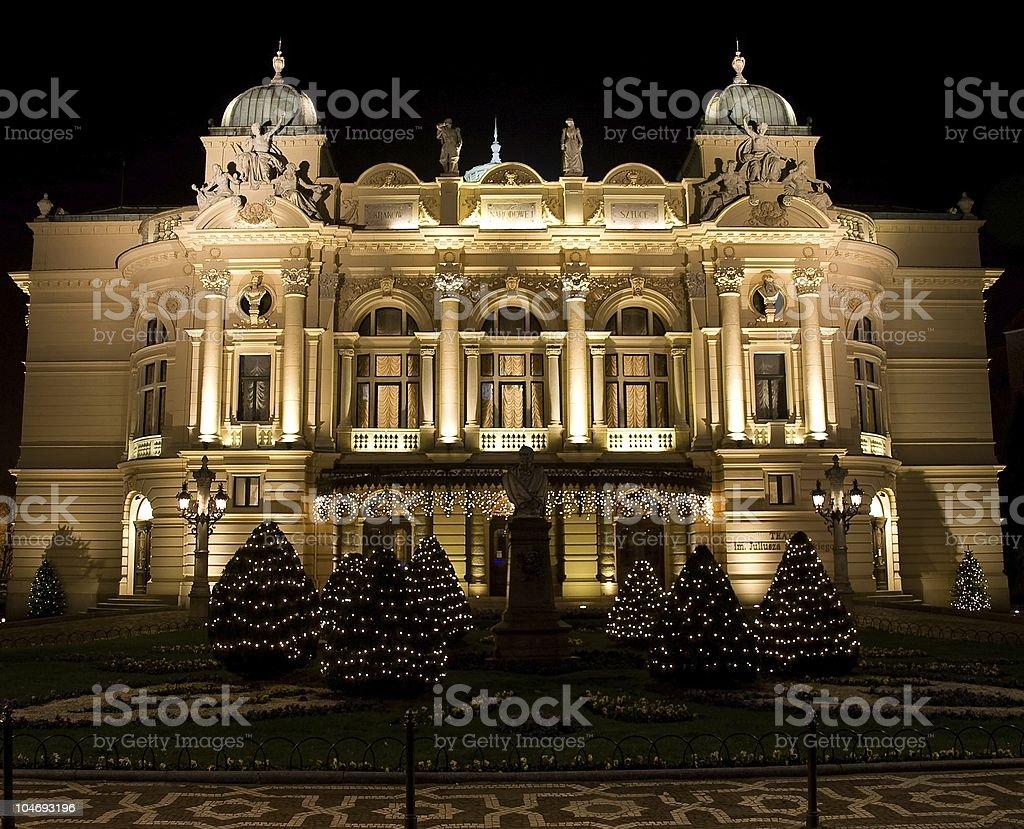 Juliusz Slowacki Theater front stock photo